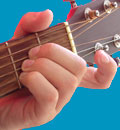 Guitar chord picture of A