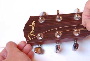 Replacing guitar strings